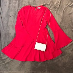 Dresses & Skirts - Red bell sleeve dress